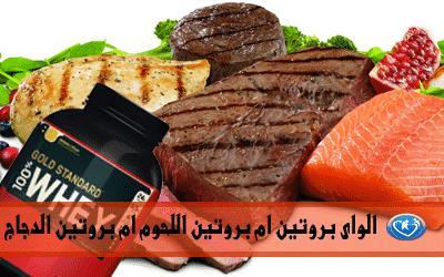 الواى بروتين ام بروتين اللحوم ام بروتين الدجاج